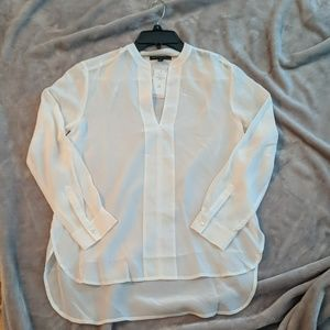 Banana Republic white silk blouse new with tags
